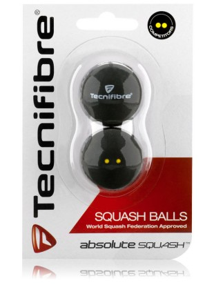 Absolute Squash žogice Tecnifibre 2 pack - tekmovalne