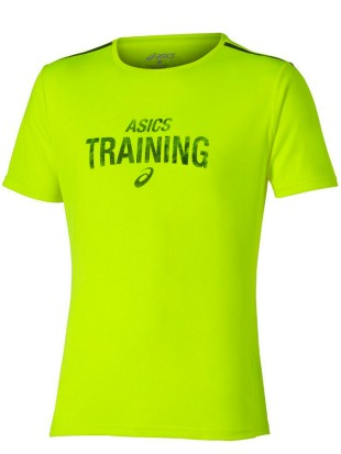 Asics majica Graphic Tee Training - rumena