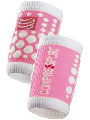Znojnik Compressport SWEAT band 3D.dots roza