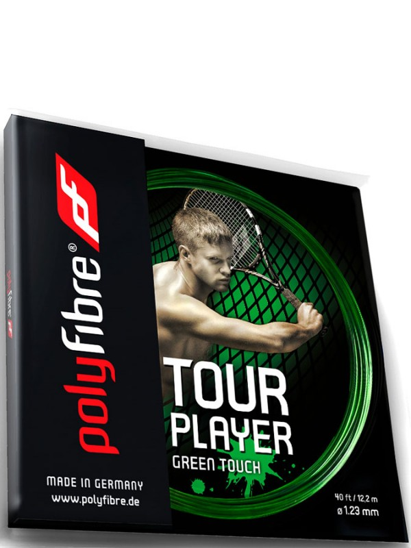 Tenis struna Polyfibre Tour Player Green Touch - set
