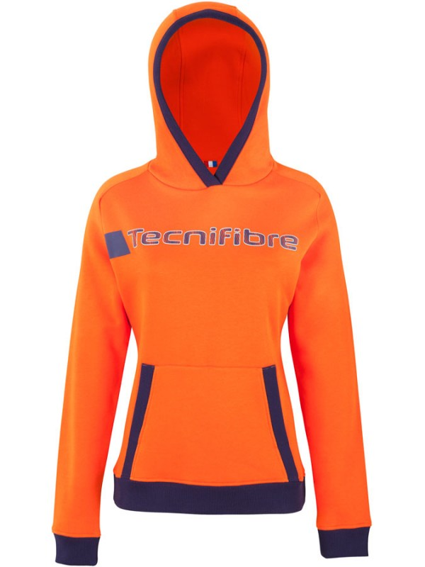 Tecnifibre ženski kapucar TF Fleece Hoodie 2018 Orange
